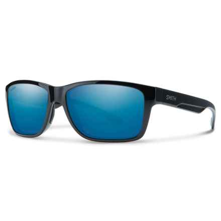 Smith Optics Wolcott Sunglasses - Polarized Techlite® Glass Lenses in Black/Blue Mirror - Closeouts