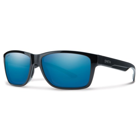 Smith Optics Wolcott Sunglasses - Polarized Techlite® Glass Lenses in Black/Blue Mirror