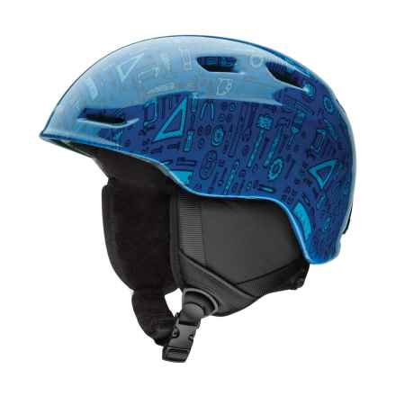 Smith Optics Zoom Jr. Ski Helmet (For Little and Big Kids) in Lapis Toolbox - Closeouts