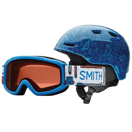 Smith Optics Zoom Jr. Ski Helmet Sidekick Goggle Combo Pack (For Little and Big Kids) in Lapis Toolbox - Closeouts