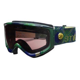 Smith Sport Optics Phenom Snowsport Goggles - Spherical Lens in Heritage Green Tartan/Ignitor Mirror