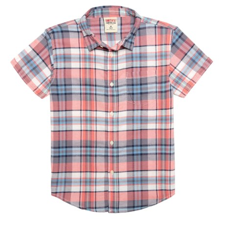 Smith's American Plaid Button-Up Shirt - Short Sleeve (For Big Boys)
