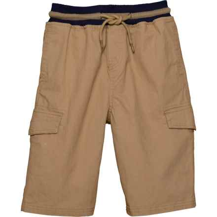 SMITHS AMERICAN Pull-On Cargo Shorts (For Big Boys) in Khaki - Closeouts
