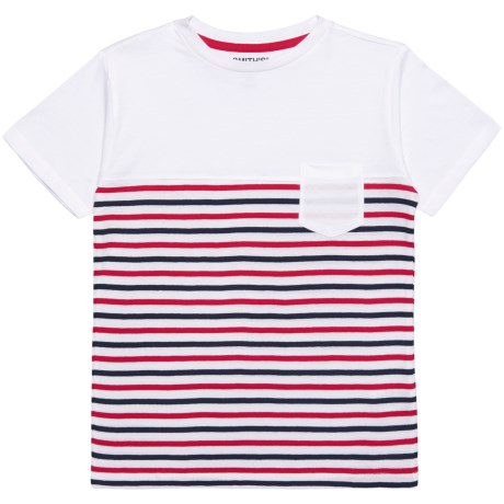 Smith's American Striped T-Shirt - Short Sleeve (For Big Boys) in White/Navy/Red