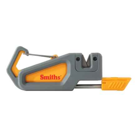 Smith's Pack Pal Knife Sharpener and Fire Starter in Grey - Closeouts