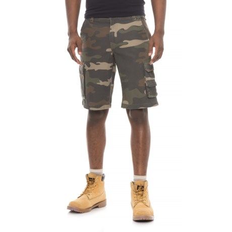 Smith's Workwear Camo Cargo Shorts (For Men) in Dark Olive