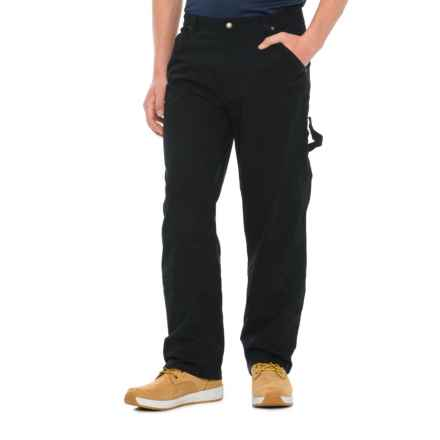 Smith S Workwear Canvas Carpenter Work Pants For Men In Black Closeouts