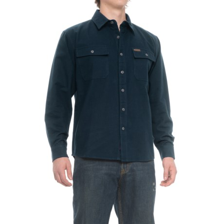 Smith's Workwear Chamois Heavyweight Flannel Shirt - Long Sleeve (For Men) in Navy
