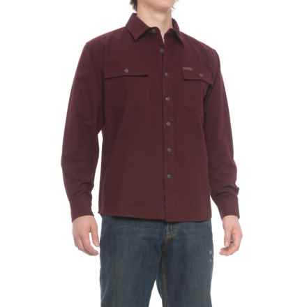 Smith's Workwear Chamois Heavyweight Flannel Shirt - Long Sleeve (For Men) in Wine - Closeouts