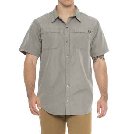 Smith's Workwear Classic Vented Work Shirt - Short Sleeve (For Men) in Charcoal - Closeouts