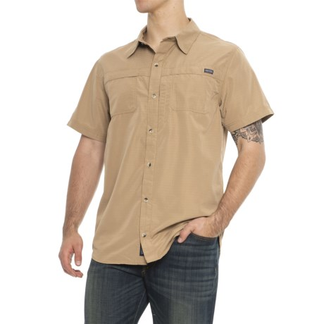 Smith's Workwear Classic Vented Work Shirt - Short Sleeve (For Men) in Khaki