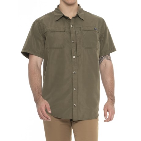 Smith's Workwear Classic Vented Work Shirt - Short Sleeve (For Men) in Olive