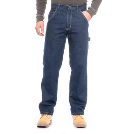 Smith's Workwear Flannel-Lined Carpenter Jeans (For Men) in Dark  Blue - Overstock