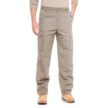 Smith's Workwear Fleece-Lined Canvas Cargo Pants (For Men) in Dusty Khaki - Overstock