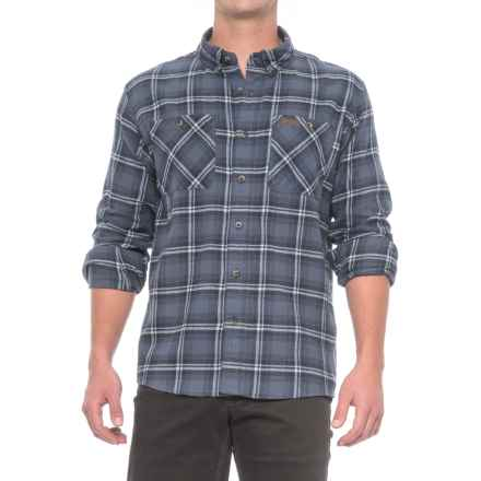 Smith's Workwear Full Swing Flannel Shirt - Button Front, Long Sleeve (For Men) in Black/Blue - Overstock