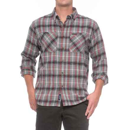 Smith's Workwear Full Swing Flannel Shirt - Button Front, Long Sleeve (For Men) in Grey - Overstock