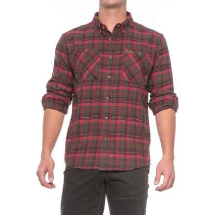 Smith's Workwear Full Swing Flannel Shirt - Button Front, Long Sleeve (For Men) in Red/Olive - Overstock