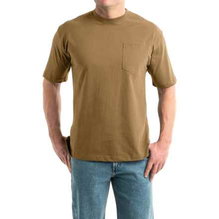 Smith's Workwear High-Performance T-Shirt - Short Sleeve (For Men) in Khaki Heather - Closeouts