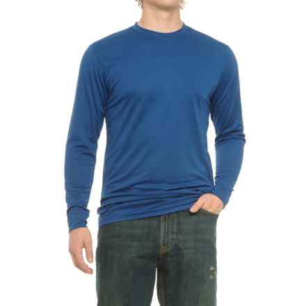 Smith's Workwear High-Performance Wicking T-Shirt - Long Sleeve (For Men) in True Blue - Closeouts