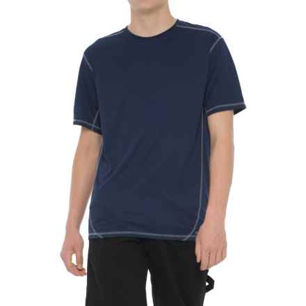 Smith's Workwear High-Performance Wicking T-Shirt - Short Sleeve (For Men) in Navy/Grey - Closeouts