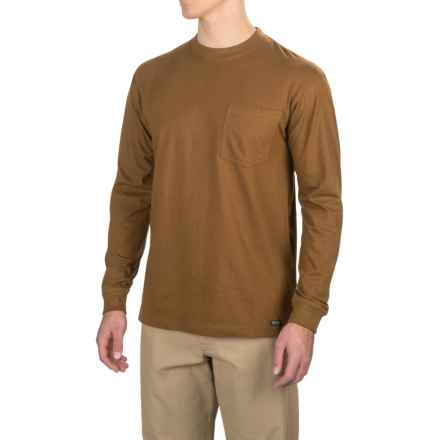 Smith's Workwear Long Tail T-Shirt - Long Sleeve (For Men) in Camel Brown - Closeouts