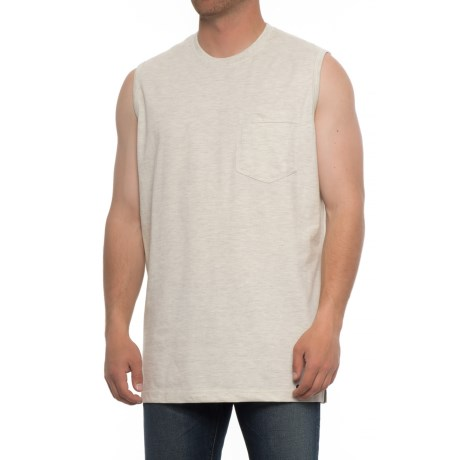 Smith's Workwear Pocket T-Shirt - Sleeveless (For Men) in Oatmeal