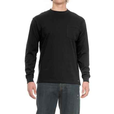 Smith's Workwear Pocketed T-Shirt - Long Sleeve (For Men) in Black - Closeouts