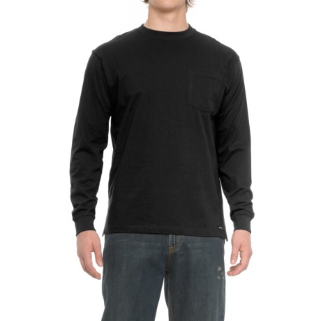 Smith's Workwear Pocketed T-Shirt - Long Sleeve (For Men) in Black