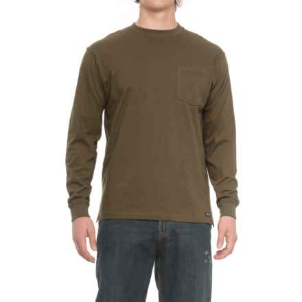 Smith's Workwear Pocketed T-Shirt - Long Sleeve (For Men) in Olive - Closeouts