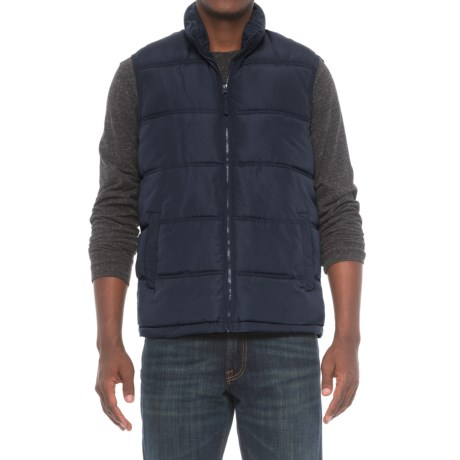 Smith's Workwear Quilted Puffer Vest - Insulated (For Men) in Navy