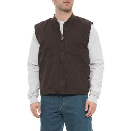 Smith's Workwear Sherpa-Lined Duck Work Vest (For Men) in Brown - Closeouts