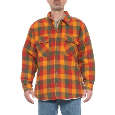 0a947ea3 Smith's Workwear Sherpa-Lined Flannel Shirt Jacket (For Men) in Harvest  Bufaflo -