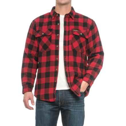 Smith's Workwear Sherpa-Lined Flannel Shirt Jacket (For Men) in Red/Black - Overstock