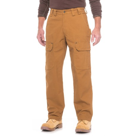 Smith's Workwear Stretch Duck Canvas Cargo Pants (For Men) in Clay Brown
