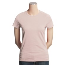 SML Sport Stretch Cotton T-Shirt - Short Sleeve (For Women) in Pink - Closeouts