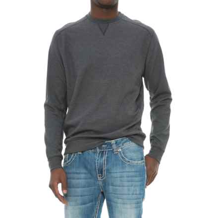 Snake Eyes Crew Knit Shirt - Long Sleeve (For Men) in Black Heather - Closeouts