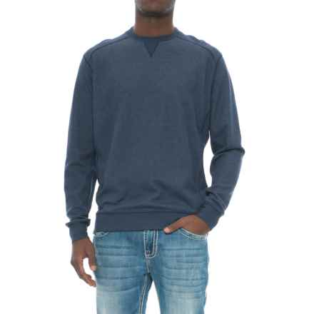 Snake Eyes Crew Knit Shirt - Long Sleeve (For Men) in Navy Heather - Closeouts