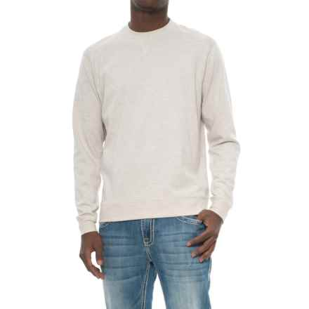 Snake Eyes Crew Knit Shirt - Long Sleeve (For Men) in Stone Heather - Closeouts