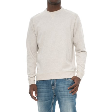 Snake Eyes Crew Knit Shirt - Long Sleeve (For Men) in Stone Heather