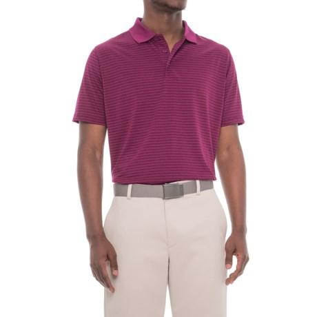 Snake Eyes Feeder Stripe Polo Shirt - Short Sleeve (For Men) in Berry