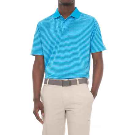 Snake Eyes Feeder Stripe Polo Shirt - Short Sleeve (For Men) in Heather Blue - Closeouts