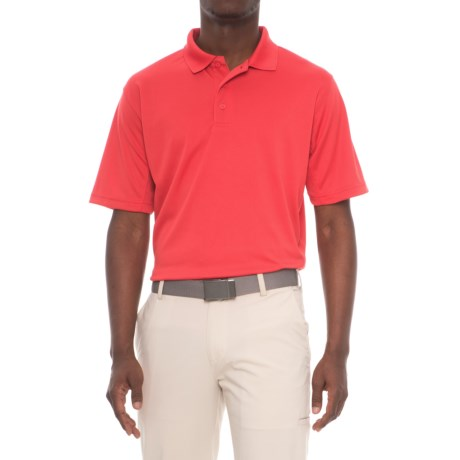 Snake Eyes Solid Polo Shirt - Short Sleeve (For Men) in Red