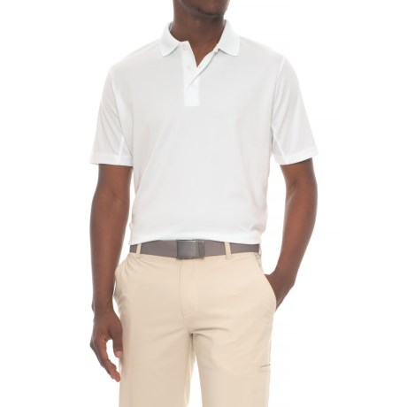 Snake Eyes Solid Polo Shirt - Short Sleeve (For Men) in White