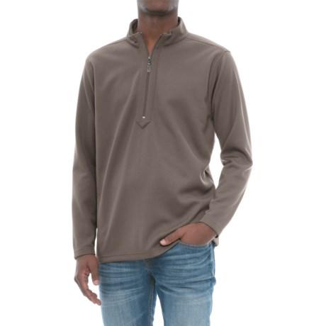 Snake Eyes Tech Shirt - Zip Neck, Long Sleeve (For Men) in Charcoal
