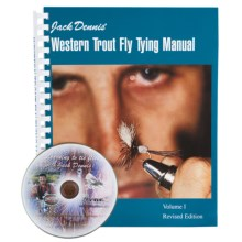 Snake River Book Company Western Trout Fly Tying Manual - Book and DVD Set in See Photo - Closeouts