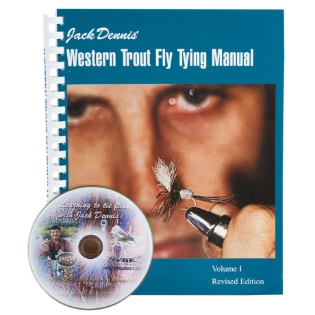 Snake River Book Company Western Trout Fly Tying Manual - Book and DVD Set in See Photo