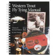 Snake River Book Company Western Trout Fly Tying Manual Volume 2 Revised Edition - Book and DVD Set in See Photo - Closeouts