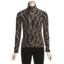 Sno Skins Brushed Print Novelty Turtleneck - Long Sleeve (For Women) in Wild Thing - Closeouts