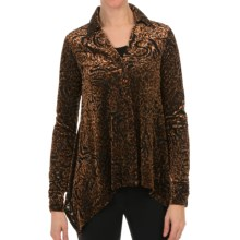 Sno Skins Burnout Velvet Print Shirt - Long Sleeve (For Women) in Dragon - Closeouts
