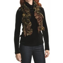 Sno Skins Burnout Velvet Scarf (For Women) in Forest - Closeouts